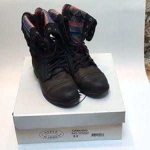 Steve Madden Camarro distressed boots